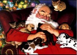Santa & Animals